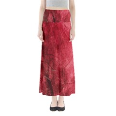 Red Background Texture Maxi Skirts