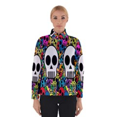 Skull Background Bright Multi Colored Winterwear