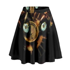 Sphynx cat High Waist Skirt