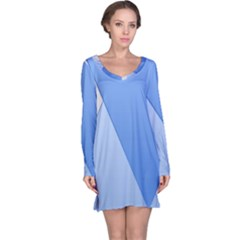 Stripes Lines Texture Long Sleeve Nightdress