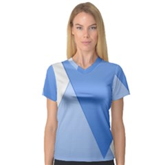Stripes Lines Texture Women s V-Neck Sport Mesh Tee