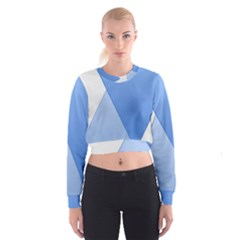 Stripes Lines Texture Women s Cropped Sweatshirt