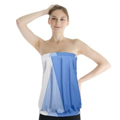 Stripes Lines Texture Strapless Top