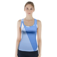 Stripes Lines Texture Racer Back Sports Top