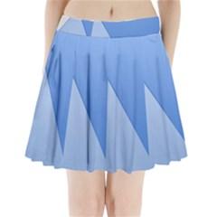 Stripes Lines Texture Pleated Mini Skirt