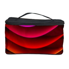Spectrum Rainbow Background Surface Stripes Texture Waves Cosmetic Storage Case