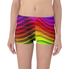 Spectrum Rainbow Background Surface Stripes Texture Waves Reversible Bikini Bottoms