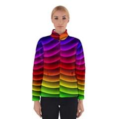 Spectrum Rainbow Background Surface Stripes Texture Waves Winterwear
