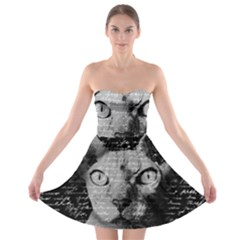 Sphynx cat Strapless Bra Top Dress