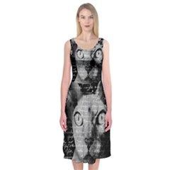Sphynx cat Midi Sleeveless Dress