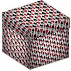 Suit Spades Hearts Clubs Diamonds Background Texture Storage Stool 12