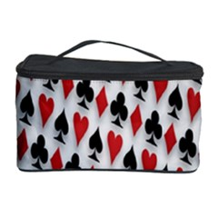 Suit Spades Hearts Clubs Diamonds Background Texture Cosmetic Storage Case