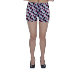 Suit Spades Hearts Clubs Diamonds Background Texture Skinny Shorts