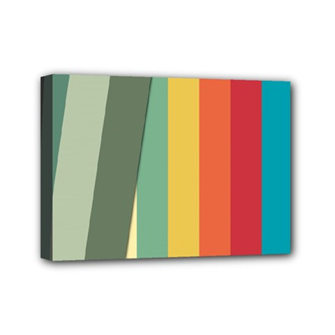 Texture Stripes Lines Color Bright Mini Canvas 7  x 5
