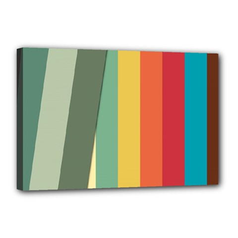 Texture Stripes Lines Color Bright Canvas 18  x 12