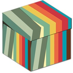 Texture Stripes Lines Color Bright Storage Stool 12