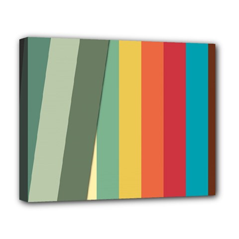 Texture Stripes Lines Color Bright Deluxe Canvas 20  x 16