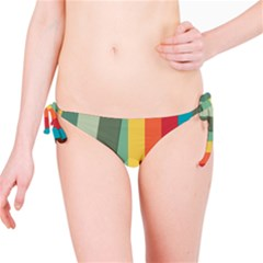 Texture Stripes Lines Color Bright Bikini Bottom