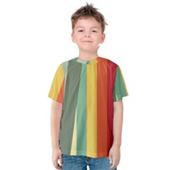 Texture Stripes Lines Color Bright Kids  Cotton Tee