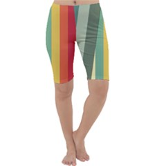 Texture Stripes Lines Color Bright Cropped Leggings