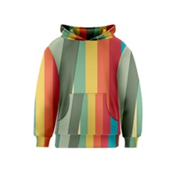 Texture Stripes Lines Color Bright Kids  Pullover Hoodie