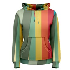 Texture Stripes Lines Color Bright Women s Pullover Hoodie