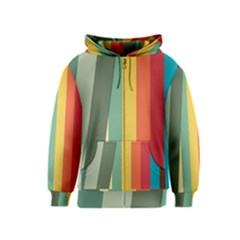 Texture Stripes Lines Color Bright Kids  Zipper Hoodie