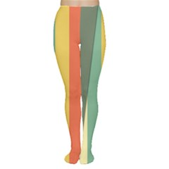 Texture Stripes Lines Color Bright Women s Tights