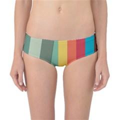 Texture Stripes Lines Color Bright Classic Bikini Bottoms