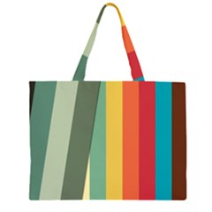 Texture Stripes Lines Color Bright Large Tote Bag