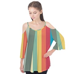 Texture Stripes Lines Color Bright Flutter Tees