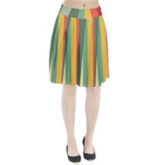 Texture Stripes Lines Color Bright Pleated Skirt