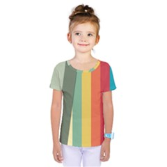Texture Stripes Lines Color Bright Kids  One Piece Tee