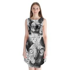 Sphynx cat Sleeveless Chiffon Dress