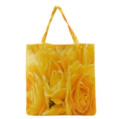Yellow Neon Flowers Grocery Tote Bag