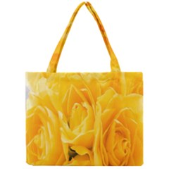 Yellow Neon Flowers Mini Tote Bag