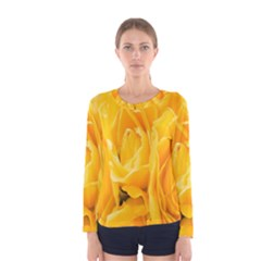 Yellow Neon Flowers Women s Long Sleeve Tee