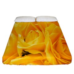 Yellow Neon Flowers Fitted Sheet (california King Size)