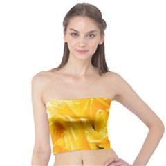 Yellow Neon Flowers Tube Top