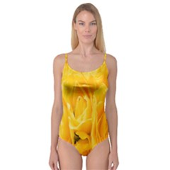 Yellow Neon Flowers Camisole Leotard