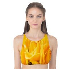 Yellow Neon Flowers Tank Bikini Top