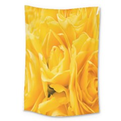 Yellow Neon Flowers Large Tapestry