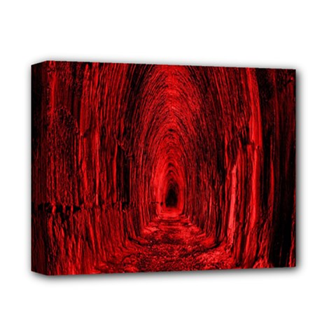 Tunnel Red Black Light Deluxe Canvas 14  x 11