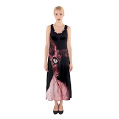 Sphynx cat Sleeveless Maxi Dress