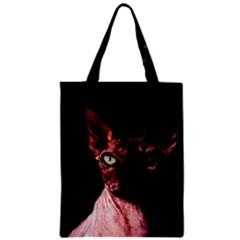 Sphynx cat Zipper Classic Tote Bag