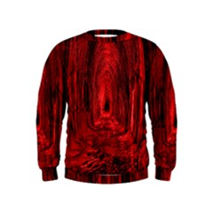Tunnel Red Black Light Kids  Sweatshirt
