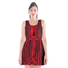 Tunnel Red Black Light Scoop Neck Skater Dress