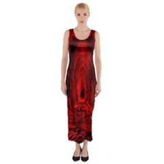 Tunnel Red Black Light Fitted Maxi Dress