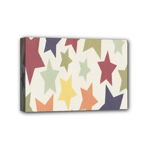 Star Colorful Surface Mini Canvas 6  X 4