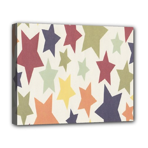 Star Colorful Surface Deluxe Canvas 20  x 16